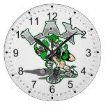 Uniforme del verde del jugador de LaCrosse Relojes