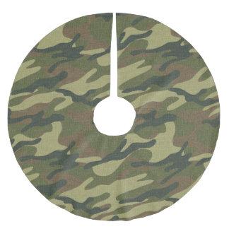 Uniforme militar falda para arbol de navidad de poliéster