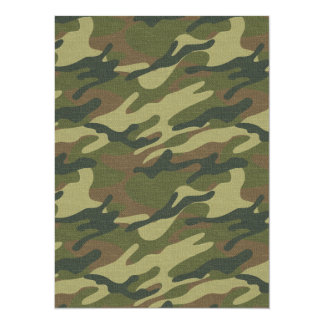 Uniforme militar invitación 13,9 x 19,0 cm