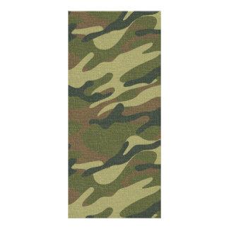 Uniforme militar tarjeta publicitaria