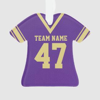 Uniforme púrpura del oro del jersey del fútbol