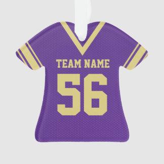 Uniforme púrpura del oro del jersey del fútbol con