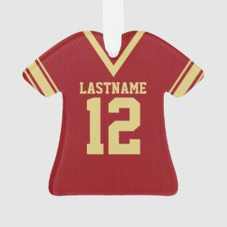 Uniforme rojo del oro del jersey del fútbol