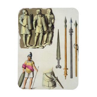Uniforme y armas de los legionarios romanos, del ' imán