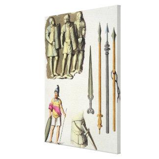 Uniforme y armas de los legionarios romanos, del ' lona envuelta para galerias
