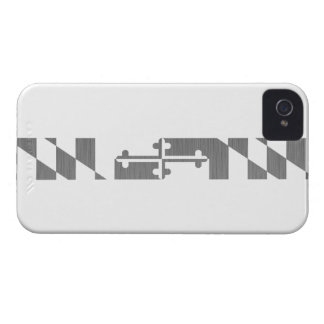 Uniformes blancos de Maryland Ops iPhone 4 Case-Mate Carcasa