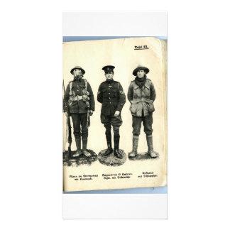 Uniformes de la Primera Guerra Mundial Tarjeta Fotográfica Personalizada