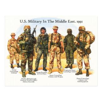 Uniformes de los militares de los E.E.U.U. en el Tarjeta Postal