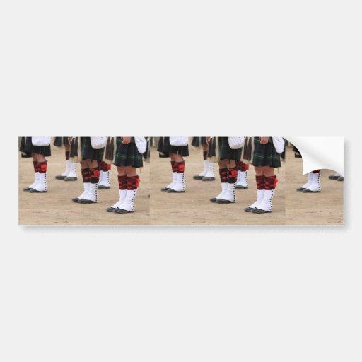 Uniformes del inglés pegatina de parachoque