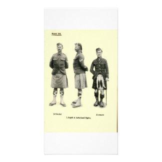 Uniformes escoceses de la Primera Guerra Mundial Tarjeta Fotográfica Personalizada