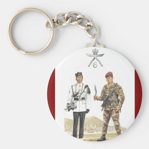 Uniformes militares del vintage, 6ta reina Elizabe Llaveros Personalizados