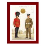 Uniformes militares del vintage, guardias de Colds Postales