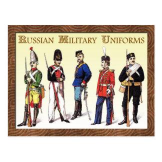 Uniformes militares rusos tarjeta postal