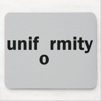 uniformity mouse pad