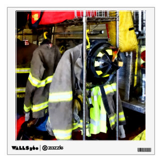 Uniforms Inside Firehouse Wall Sticker