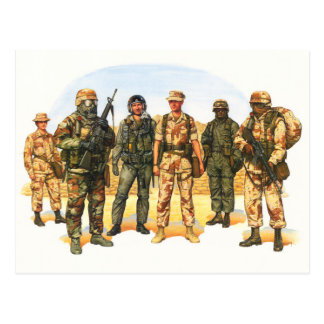 Uniforms of the U.S. Military in the Middle East Postcard