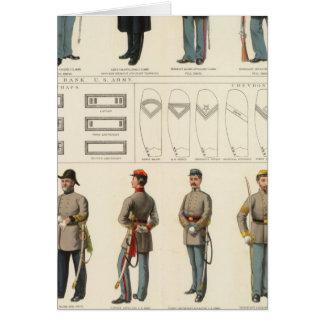 Uniforms, US, CS armies Greeting Card