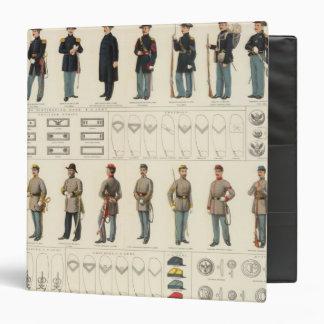 Uniforms, US, CS armies Vinyl Binder