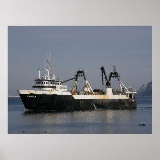 Unimak, barco pesquero del barco rastreador de fáb poster