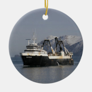 Unimak, barco rastreador de fábrica en Alaska Ornamentos Para Reyes Magos