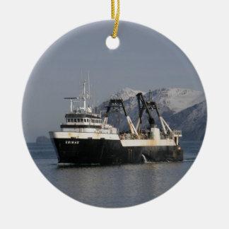 Unimak, Factory Trawler in Alaska Ceramic Ornament