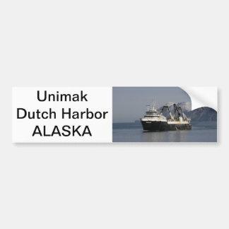 Unimak, Factory Trawler in Dutch Harbor, AK Bumper Sticker