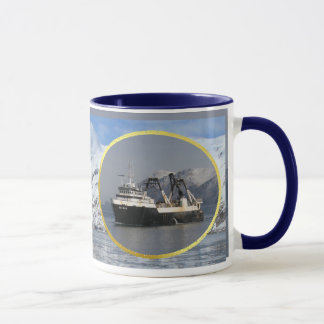 Unimak, Factory Trawler in Dutch Harbor, AK Mug