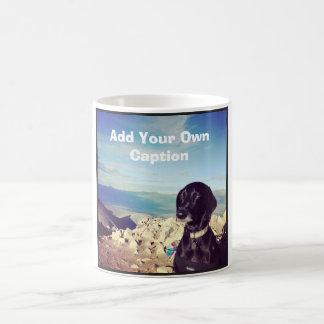 Unimpressed Dog - Add your own caption. Coffee Mug