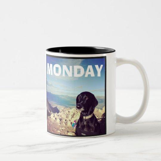 Unimpressed Dog - Monday Mug