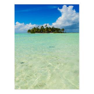 Uninhabited island postcard