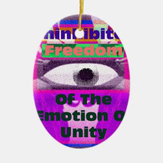 Uninhibited Freedom Ceramic Ornament