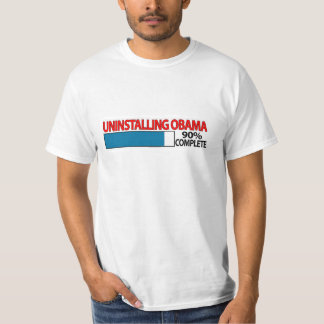 """Uninstalling Obama"" T-shirt"