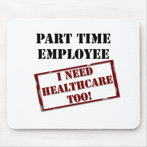 Uninsured Part Timer Mouse Pad
