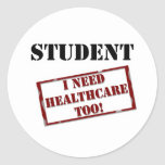 Uninsured Student Stickers