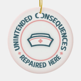 Unintended Consequences Repaired Double-Sided Ceramic Round Christmas Ornament