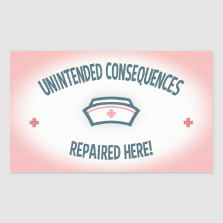 Unintended Consequences Repaired Rectangular Sticker