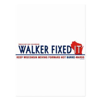 Unintimidated Scott Walker Postcard