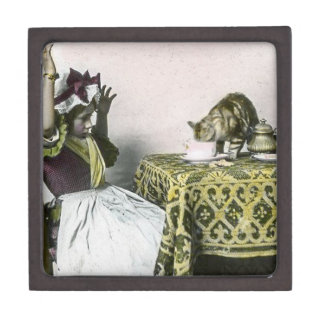 Uninvited Guest Bad Kitty Vintage Tea Party Girl Gift Box