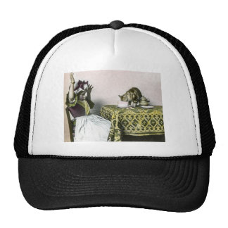 Uninvited Guest Bad Kitty Vintage Tea Party Girl Trucker Hat