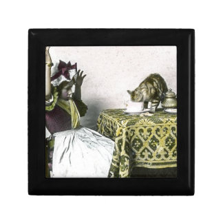 Uninvited Guest Bad Kitty Vintage Tea Party Girl Jewelry Box