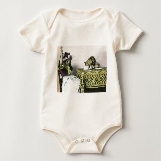 Uninvited Guest Bad Kitty Vintage Tea Party Girl Romper