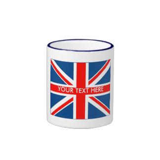 Unio británico Jack Taza De Dos Colores