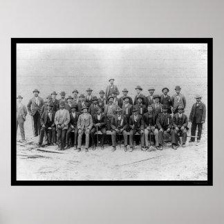 Unión afroamericana 1900 de los carpinteros posters