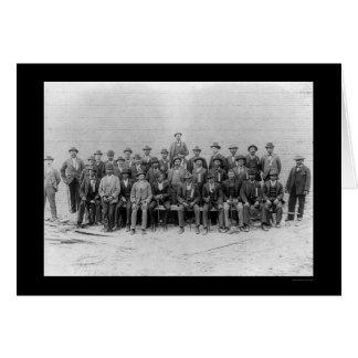 Unión afroamericana 1900 de los carpinteros felicitación