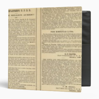 Union and Central Pacific Railroad Lines 3 Ring Binders
