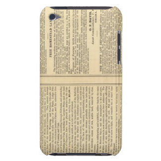 Union and Central Pacific Railroad Lines iPod Case-Mate Case