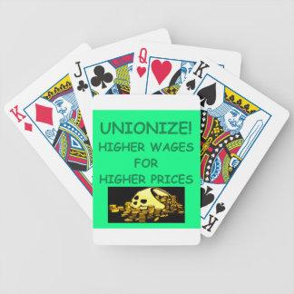 unión anti baraja cartas de poker