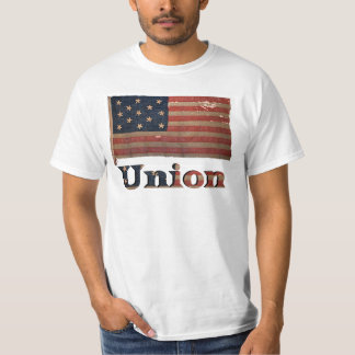 Union Army Civil War Distressed Antique Flag T-Shirt
