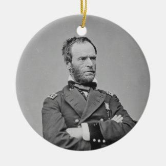Union Army General William Tecumseh Sherman Ceramic Ornament