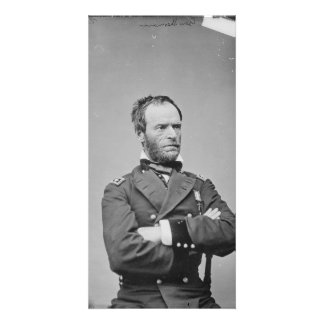 Union Army General William Tecumseh Sherman Photo Card Template